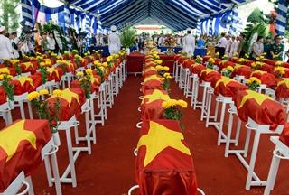 Lễ truy điệu và an táng hài cốt liệt sĩ tại Đồng Nai