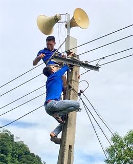 Lắp đặt cụm thu FM không dây ở cơ sở