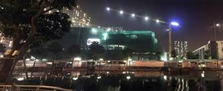1 - Chụp bằng điện thoại - Đêm trên công trình xây dựng chung cư times city Minh khai Hà nội 1-
